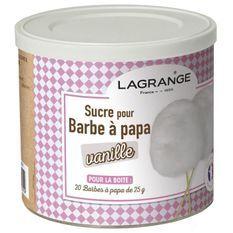 LAGRANGE 380006 Boîte de sucre a barbe a papa 500 g - Vanille