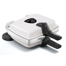 LAGRANGE Gaufrier Super 2 Antiadhésif - 1000W - 2 jeux de plaques : Gaufres + Gaufrettes - Blanc