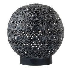 Lampe à LED orientale métal noir Nissy D 18 cm - Lot de 4