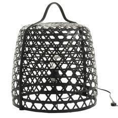 Lampe de table bambou noir Cintee