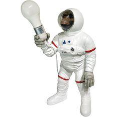 Lampe de table singe astronaute polyrésine blanche Ewton
