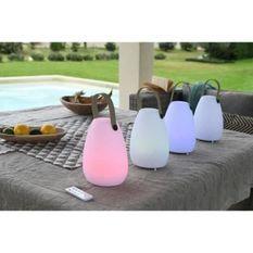 Lampe LED portable - 6 LED RGB + 3 LED Blanc - 5V - D 14 x H 20 cm