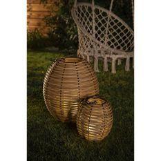 Lampe rotin H26 - bougie (PILES) - GALIX