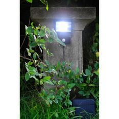 Lampe solaire avec détecteur de mouvements - Blanc - L 15,9 x P 6 x H 16,5 cm