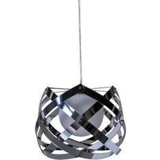 Lampe suspension métal gris chromé Turnas