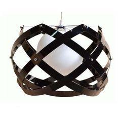 Lampe suspension métal noir Turnas