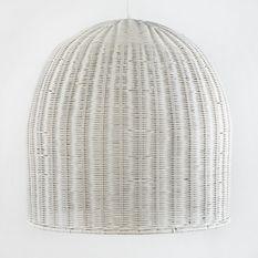 Lampe suspension osier blanc Nathi D 60 x H 60 cm