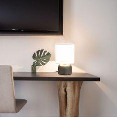 Lampes de table 2 pcs Bouton tactile Blanc E14