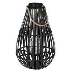 Lanterne goutte d'eau bambou noir Bialli