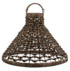 Lanterne suspendue jacinthe d'eau marron Cintee