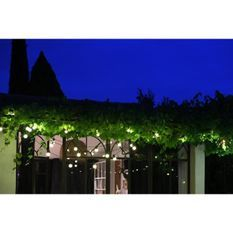 LEALIGHT Guirlande Fete - 4,5 m - 50 LED blanc chaud