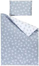 Linge de lit gris et blanc Agneaux