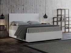 Lit 160x190 cm avec coffre bois blanc Landa