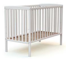 Lit 60x120 cm hêtre massif blanc Confort