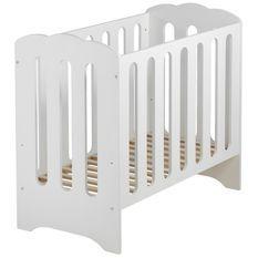 Lit à barreaux 50x100 cm bois massif blanc Mini Nuage