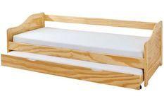 Lit banquette avec tiroir lit pin massif clair Theo 90x200 cm
