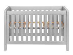 Lit bébé 60x120 cm hêtre massif gris Orelle