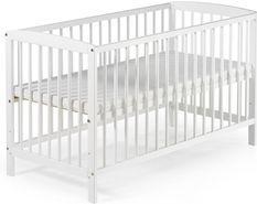 Lit bébé à barreaux pin massif laqué blanc Felix 60