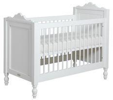Lit bébé bois laqué blanc Belle 60x120 cm