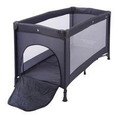 Lit bébé pliant 60x120 cm avec tirette polyéthylène gris Konfo