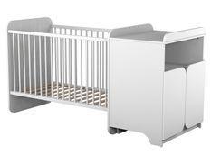 Lit bébé transformable et commode blanche Ateliers T4