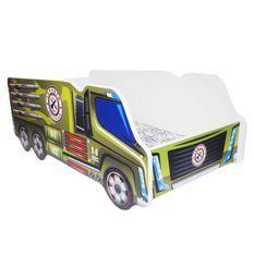 Lit camion army mélaminé vert 70x140 cm