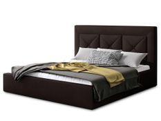 Lit design 140x200 cm velours marron foncé Clarin