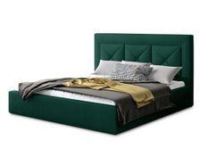 Lit design 140x200 cm velours vert foncé Clarin