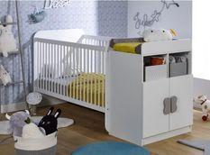 Lit combiné transformable 70x140 cm bois blanc Madrid