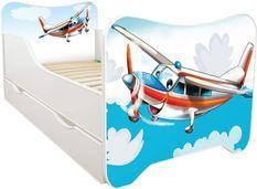 Lit enfant à tiroir et matelas 70x140 cm Avion