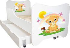 Lit enfant à tiroir et matelas 70x140 cm Le roi lion