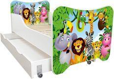 Lit enfant à tiroir et matelas 70x140 cm Madagascar