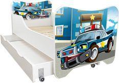 Lit enfant à tiroir et matelas 70x140 cm Police