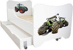 Lit enfant à tiroir et matelas 70x140 cm Tracteur