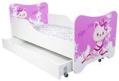 Lit enfant à tiroir happy kitty 80x160