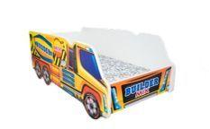 Lit enfant avec matelas camion bétonneuse 70x140 cm