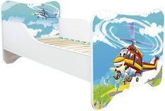 Lit enfant avec matelas Hélicoptère 70x140 cm