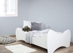 Lit enfant blanc avec matelas Shoopy 70x140 cm