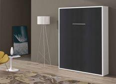 Lit escamotable vertical 90x190 cm anthracite Banila