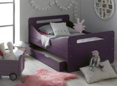Lit évolutif avec tiroir 90x140/190 cm bois violet Féroé