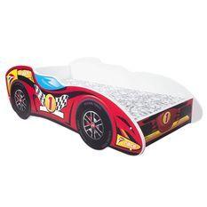Lit F1 top car mélaminé rouge 80x160 cm