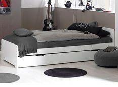 Lit gigogne 90x190 cm bois blanc Féroé