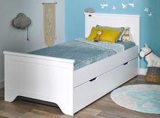 Lit gigogne bois blanc Occitane 90x190 cm