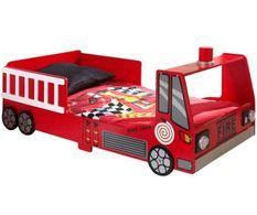 Lit pompier 70x140 cm bois rouge Todd