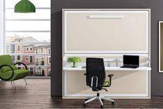 Lit superposé escamotable avec bureau Melina 90x190 cm