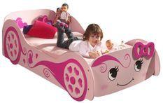 Lit voiture 90x200 cm bois rose Cara