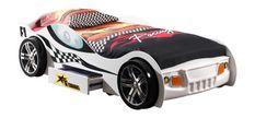 Lit voiture à tiroir blanc Turbo 90x200 cm