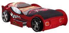 Lit voiture à tiroir rouge Turbo 90x200 cm