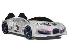 Lit voiture de sport blanc speeder 90x190 cm