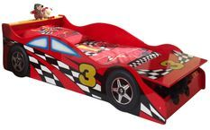 Lit voiture de course 70x140 cm bois rouge Todd